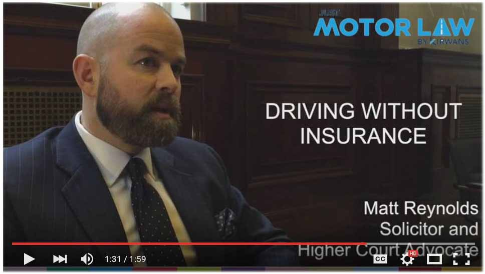 Just Motor Law - Driving without Insurance