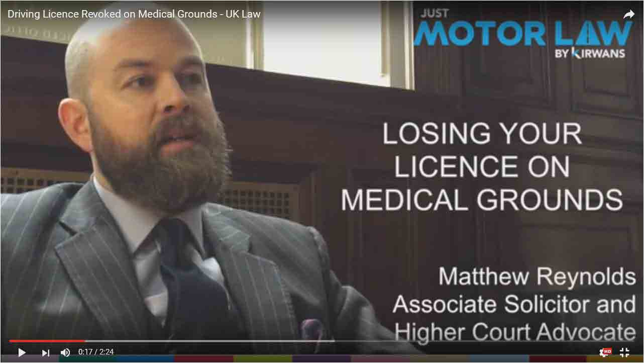 Just Motor Law - Losing Licence on Medical Grounds